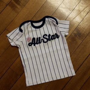 size 0-3m baby boys striped All star Jersey